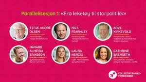 """parallellsesjon 1: """"Fra leketøy til storpolitikk"""" - bilde"""